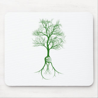 Light Bulb Roots Tree Mouse Pad
