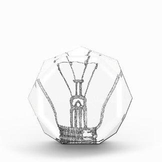Light bulb series acrylic award