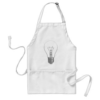 Light bulb series aprons