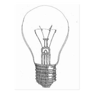 Light bulb series postcard