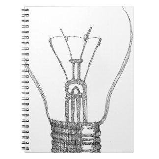 Light bulb series spiral notebook