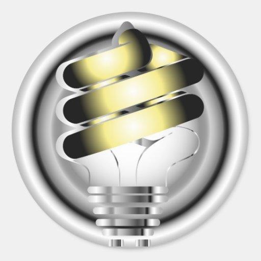 Light Bulb Round Stickers