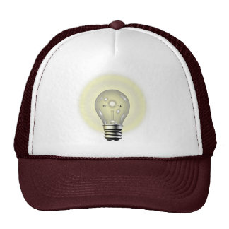 Light Bulb Thinking Cap Mesh Hats