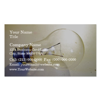 Light bulb with a bayonet fitting business card