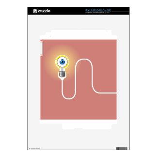 Light Bulb with an Eyeball Vector iPad 2 Skin