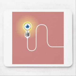 Light Bulb with an Eyeball Vector Mouse Pad