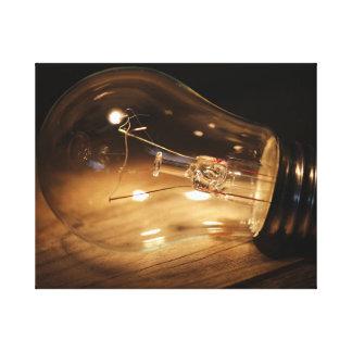 Light Bulb - Wood Canvas Print