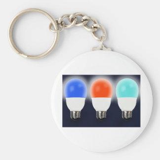 Light Bulbs Basic Round Button Keychain