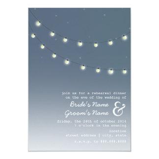 "Light Bulbs Evening Wedding Rehearsal Dinner 5"" X 7"" Invitation Card"