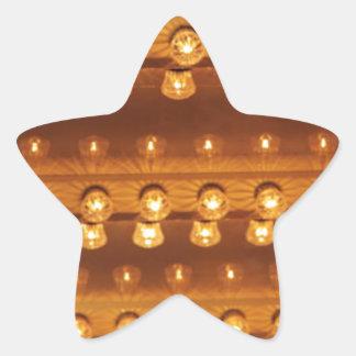Light Bulbs On Ceiling (Background) Star Sticker