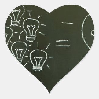 Light bulbs teamwork concept.jpg heart sticker
