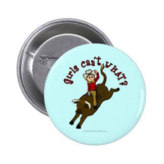 Light Bull Rider Pinback Button