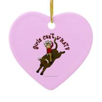 Light Bull Rider Christmas Ornament