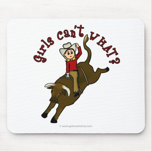 Light Bull Rider Mouse Pad