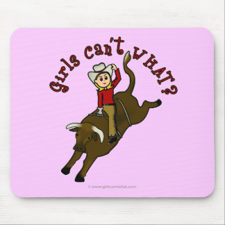 Light Bull Rider Mouse Pad