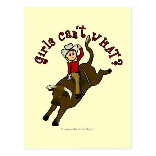 Light Bull Rider Post Card