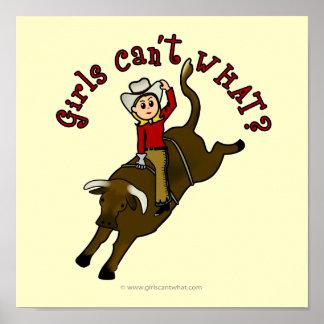 Light Bull Rider Poster