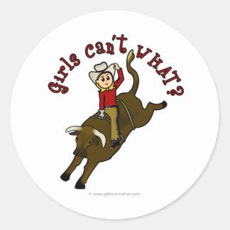 Light Bull Rider Stickers