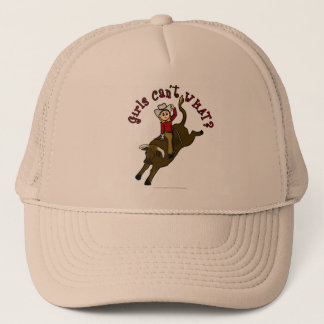 Light Bull Rider Trucker Hat