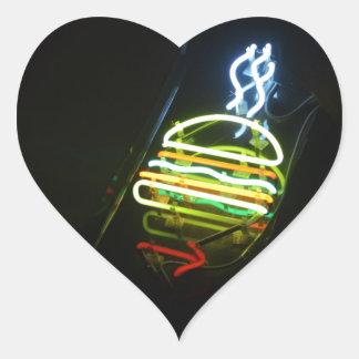 light burger heart sticker