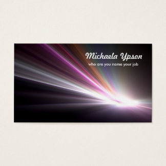 light business card