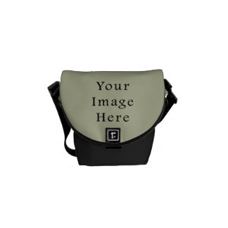 Light Camouflage Green Color Trend Blank Template Courier Bag