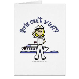 Light Captain Girl Card