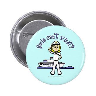 Light Captain Girl Pinback Button