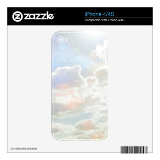 Light Celestial Clouds Phone Skin. iPhone 4 Decals