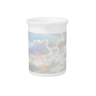 Light Celestial Clouds Pitcher
