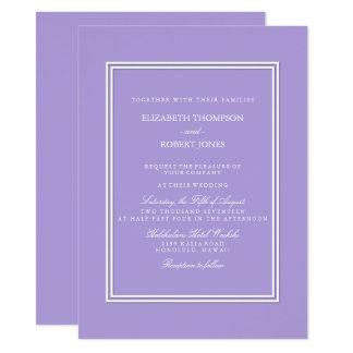 Light Chalky Pastel Purple Wedding Invitation Set