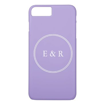 Beach Themed Light Chalky Pastel Purple Wedding Party Set iPhone 7 Plus Case
