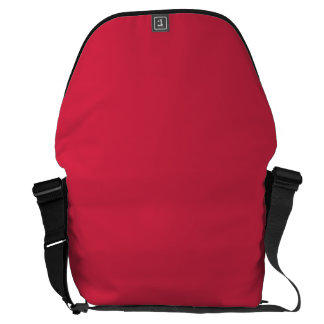 LIGHT CHERRY RED (a solid fruity color) ~~ Courier Bag