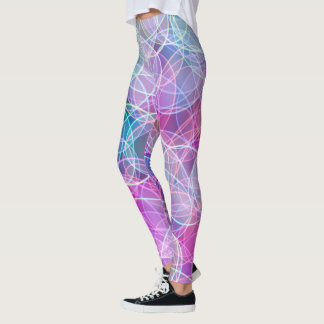Light circle candy colours pink pattern leggings