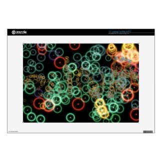 "Light circles decal for 15"" laptop"