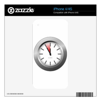 Light Clock Decals For iPhone 4S
