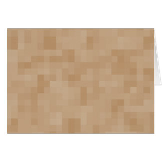 Light Coffee Brown Color Abstract Pattern. Greeting Card