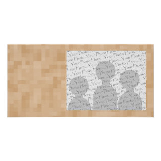 Light Coffee Brown Color Abstract Pattern. Photo Card