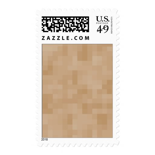 Light Coffee Brown Color Abstract Pattern. Postage
