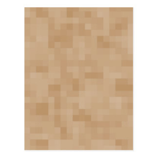 Light Coffee Brown Color Abstract Pattern. Postcard