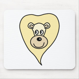 Light Color Lion Cartoon Mouse Pad