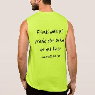 Light Color Muscle T w/slogan Sleeveless Shirt