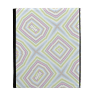Light colored abstract pattern iPad folio covers