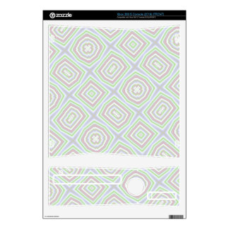 Light colored abstract pattern decal for xbox 360 s