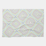 Light colored abstract pattern towels