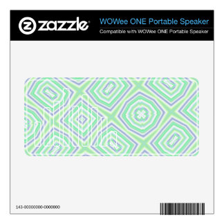 Light Colored Blue green Pattern WOWee Speaker Decals