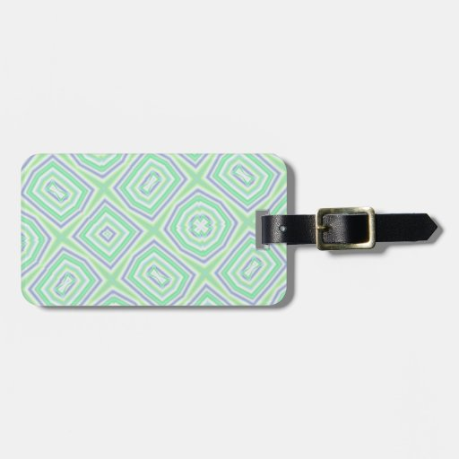 Light Colored Blue green Pattern Tag For Luggage