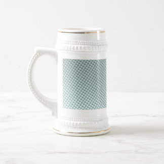 Light Colored Carbon Fiber Textured Beer Stein