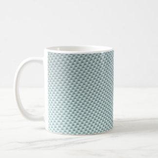 Light Colored Carbon Fiber Textured Coffee Mug