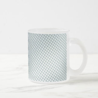 Light Colored Carbon Fiber Textured Frosted Glass Coffee Mug